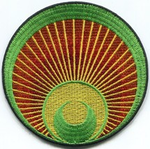 Crop circle ufo alien ET embroidered applique iron-on patch C-1 - $3.22