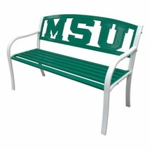 NEW MSU Michigan State Spartan Garden Bench Park Lawn Patio Steel Lacque... - £118.07 GBP