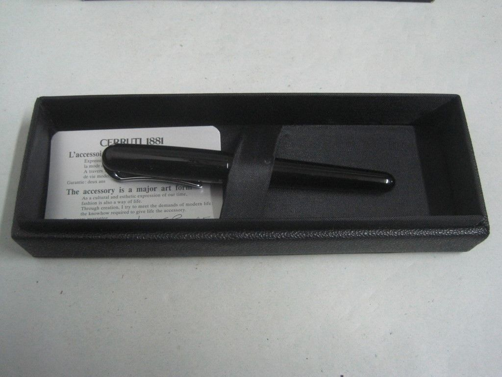 Cerruti 1881 Ballpoint Black Pen with Box