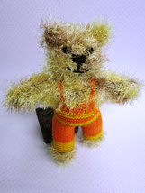 Handmade Teddy Bear stuffed toy,OOAK, nursery decoration, baby shower gift - $32.00