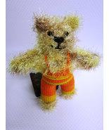 Handmade Teddy Bear stuffed toy,OOAK, nursery decoration, baby shower gift - $32.00