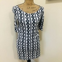 Juicy Couture White And Black Dress 3/4 Sleeve Chain Link Size S - $15.88