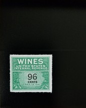 1942 96c U.S. Internal Revenue Cordial & Wine, Green Scott RE145 Mint F/... - $5.14