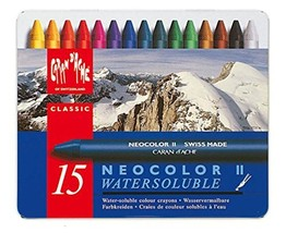 Caran d'Ache Classic Neocolor II Water-Soluble Pastels, 15 Colors - $28.82