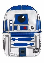 Loungefly Star Wars R2D2 Faux Leather Applique Driod Force Awakens Bag Backpack - $74.00