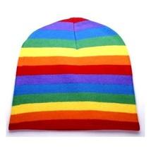 LGBT Retro Punk Winter Ski Snowboarding ~ Rainbow Stripe Beanie FT399 ( ... - $11.87