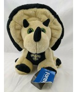 Forever Collectibles Dinosaur Plush New Orleans Saints Triceratops Stuffed - $17.95