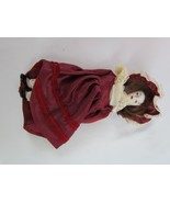 """Antique Doll with Porcelain Head Hands and Feet 8"""" Hat Hair Dress Lace C... - $23.74"""