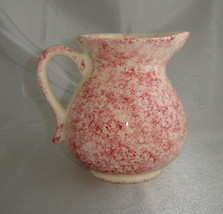 PENNSBURY POTTERY R.B. Ivory/Rose Pink Splatter Painted Small Pitcher Jug - $11.66