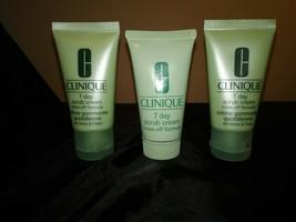 clinique 7 day scrub cream ( 3) bottles 2.5 fl. oz. total - $11.99