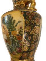 "Vintage 18"" Japanese Two Gold Gilt Handle Satsuma Vase Jug Japan Marked image 8"