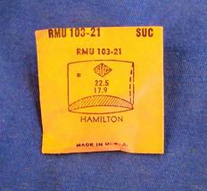 Vintage Hamilton Plastic Crystal  Wristwatch Part CMT 302.18 22.5 mm X 1... - $10.99
