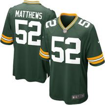 Clay Matthews 2017 Green Bay Packers Green Game Men Jersey - $59.99