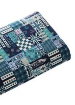 [English Hour]21'' Wide Handworked Patterned Cotton Fabric Green 17.521 Inches