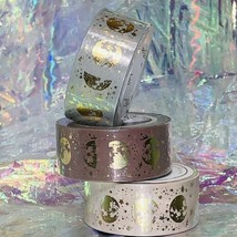 Sealed PAPERGEEK Washi Lunar Magic Gold Foil 33 Foot Rolls YOU GET ALL 3 Mauve