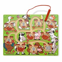 Melissa & Doug Magnetic Wand Number Maze (Developmental Toys, Wooden Activity Bo - $15.26