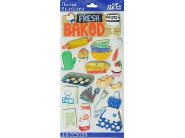 Fresh Baked Stickers! Set of 16 Baking-Related Dimensional Stickers