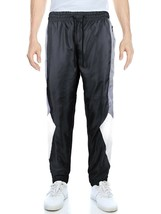 LR Men's Retro Urban Lightweight Athletic Casual Striped Gym Track Sweat Pants image 2