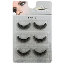 LASHVIEW 3D False Eyelashes Soft Black Handmade Natural Look Eye Lashes ... - $24.29