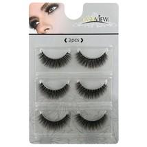 LASHVIEW 3D False Eyelashes Soft Black Handmade Natural Look Eye Lashes Thick Na - $24.29