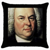 Johann Sebastian Bach Throw Pillow Cover - $14.74