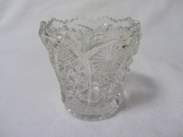 "IMPERIAL GLASS CRYSTAL CLEAR  HOBSTAR SAWTOOTH EDGE TOOTHPICK 2 1/2"" HIGH - $8.99"