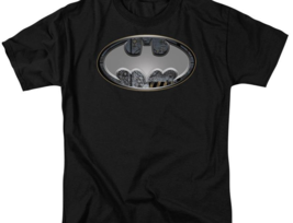 DC Comics Batman silver logo adult graphic t-shirt BM1754 image 2