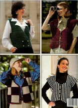 Best of the Vests 4 Designs to Crochet Leisure Arts 2711 1995 - $4.15