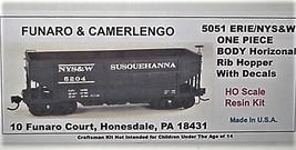 Funaro & Camerlengo HO ERIE / NYS&W ONE PIECE BODY Horizontal Rib Hopper Kit 505 image 1