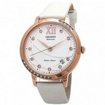 Orient ER2H003W Mens White Leather Band With White Analog Dial Genuine W... - $163.58