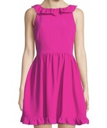 KATE SPADE NWT SCENIC ROUTE RUFFLE BACK FIT AND FLARE DRESS BOGANVILEA S... - $130.00