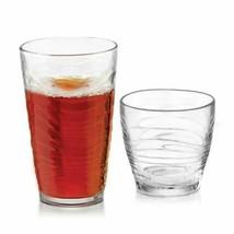 16 Piece Assorted Glassware Set Cooler Rocks Glass Serving Clear Drinkin... - $35.63