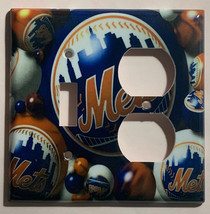 New York NY Mets Baseball Light Switch Power Outlet Wall Cover Plate Home decor image 3