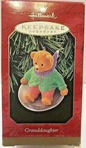 Hallmark Keepsake Ornament Grandaughter 1999 Bear - £10.01 GBP
