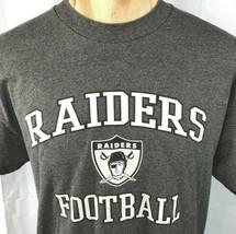 Raiders Football NFL Team Apparel L T-Shirt Large Mens Vegas Oakland Los Angeles - $28.01