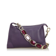 Pre-Loved Celine Purple Others Leather Shoulder Bag France - $498.61