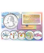 1999 US Statehood Quarters HOLOGRAM *** 5-Coin Complete Set *** w/Capsul... - €11,38 EUR