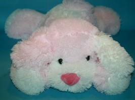 """Circo Dog 15"""" Large Pink White Puppy NO Bandana Fluffy Plush Stuffed Toy Target - $28.87"""