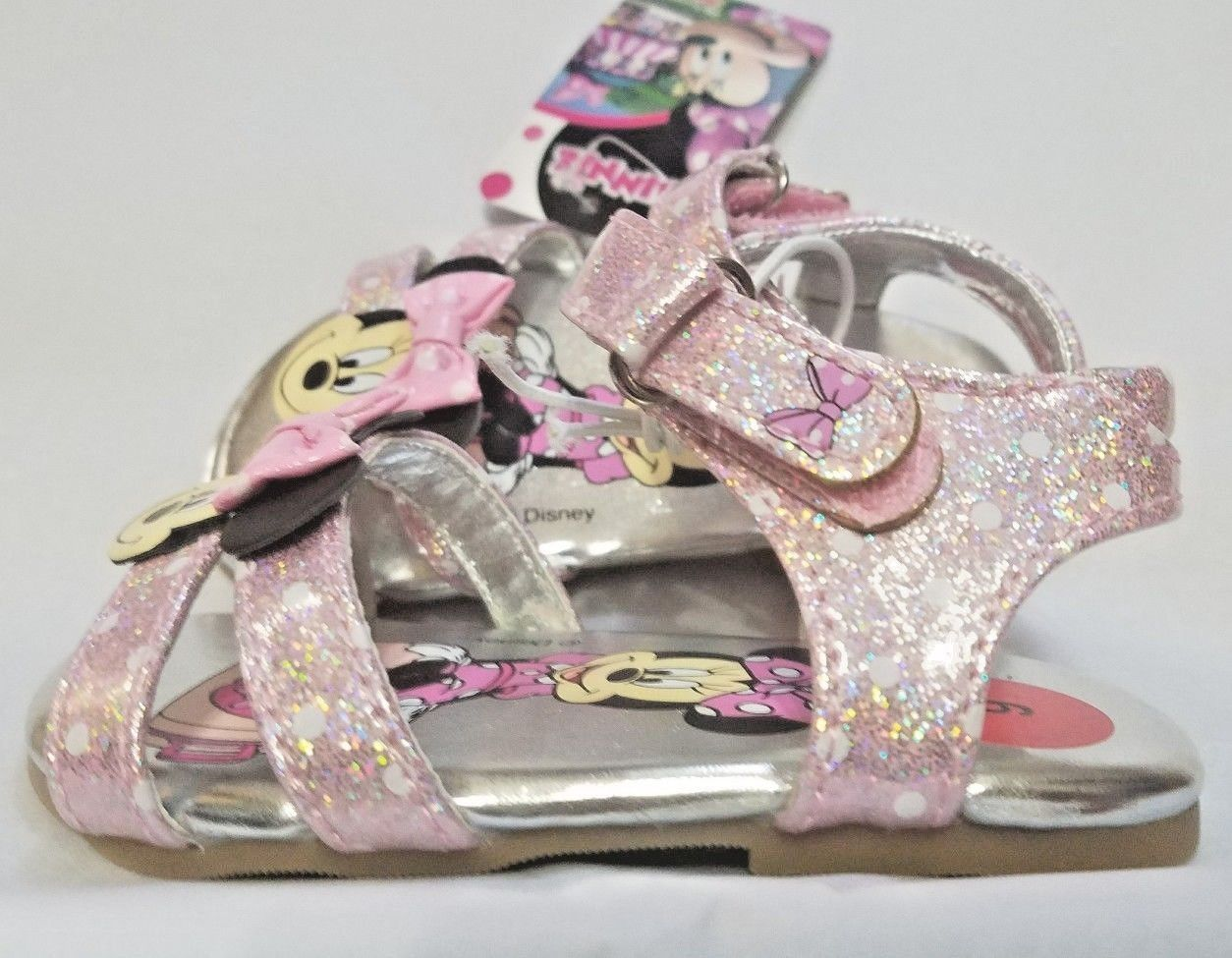NEW NWT Baby or Toddler Disney Minnie Mouse Sandals Size 6 7 9 or 10