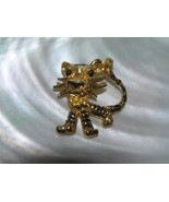 Vintage Cutesy Goldtone with Black Painted Accents Tiger Pendant – 1 and... - $10.39