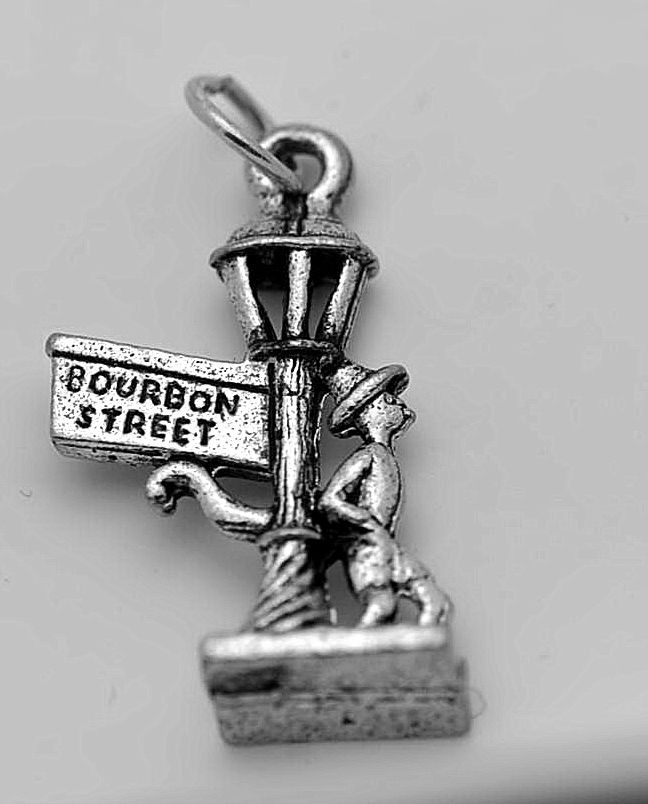 Rue du Bourbon Street New Orleans Louisiana Sterling silver .925 Charm Jewelry