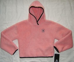 Converse Girls Hoodie Pink Sherpa Pullover M Medium 10-12 yrs - $19.99