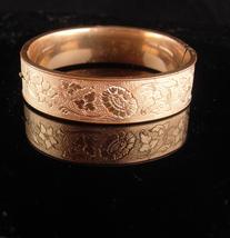 Antique 10kt gold filled Victorian bracelet / sweetheart bangle / Ornate... - $225.00