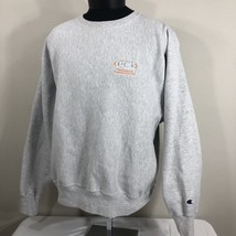 VTG Champion Reverse Weave Sweatshirt Warm Up Jumper Crew Neck Large Gre... - $21.60