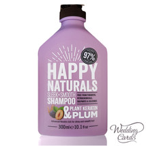 Plant Keratin & Plum Sleek + Smooth Shampoo NO Parabens/SLS Happy Naturals 300ml - $15.88