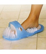 Cleaner Foot Scrubber Brush Massager Bathroom Shower Blue Slippers Spa T... - $29.95