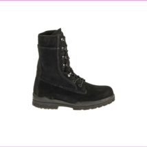 "Bates E01778 Women's 9"" US Navy Suede DuraShocks Steel Toe Boot, Black, 8.5 W - $155.81"