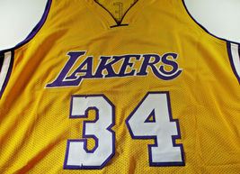 SHAQUILLE O'NEAL / AUTOGRAPHED LOS ANGELES LAKERS YELLOW CUSTOM JERSEY / JSA COA image 2
