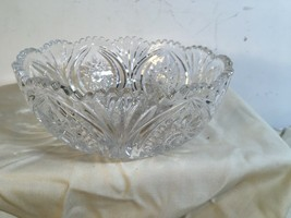 ABP Style American Brilliant Cut Glass Bowl Sawtooth Pressed - $21.68