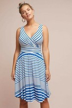 New Anthropologie Kythira Striped Dress by Maeve Retail $128  SMALL  Blue - $59.40